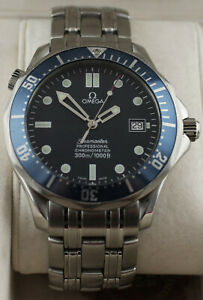 2531.80 Omega Seamaster Professional Bond Mens Blue Automatic Chronometer Watch
