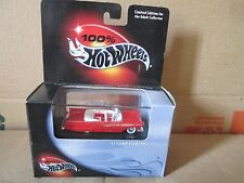 1957 ford fairlane  convertible Hot Wheels 100% Black Box RED  limited ed cool