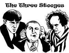 "Original Three Stooges Comedy Vinyl Decal Wall Art Sticker 18"" x 24"" TV Room"