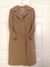 100% Wool Women's Winter Coat Beige/ Camel * made in Romania * FREE SHIPPING