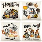 Pumpkin Boo Halloween Pillow Covers 18x18 Inch Set of 4 Fall Throw Pillowcase
