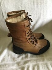 UGG ADIRONDACK III WOMEN BOOTS LEATHER Brown Size US 7