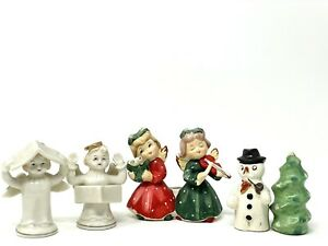 Lot Of Vintage Salt and Pepper Shakers And Christmas Candle Holder Japan