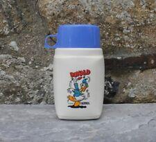 Thermos gourde Donald Disney Roughneck Flask avec tasse bleue vintage