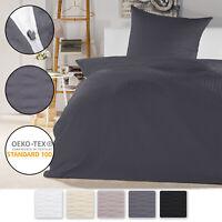 2t. Seersucker Bettwäsche Bettgarnitur 135x200 155x220 Bettbezug Kopfkissenbezug