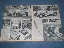 "1927 Ford Model T Vintage Drag Car Article ""Big John's Special"" B/SR"