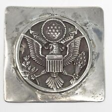 Unusual Vintage Sterling Silver American Eagle Coat of Arms 37.7 grams NM Estate