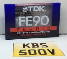 1 SEALED BLANK CASSETTE TAPE TDK FE 90 FOR RECORDING C90