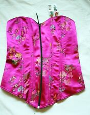 NWT TESA black/ pink floral corset new, sexy size 32, oriental style, evening