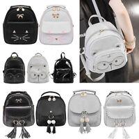 Women Girls PU Leather Satchel Rucksack Travel School Backpack Mini Shoulder Bag