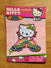 Hello Kitty With Rainbow Iron-On Patch New On Card C&D Visionary Sanrio Rare!