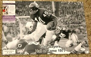 GALE SAYERS Chicago Bears signed photo in action Ltd Ed 6/40 JSA