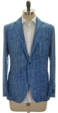 Belvest Sport Coat Jacket 3B Silk Cotton 42 52 Blue Tweed 50SC0156 $2395