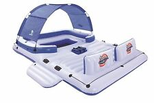 Bestway CoolerZ Blue Caribbean Inflatable Floating Island 6 Person Over 10ft