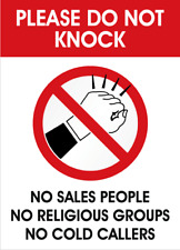Do not knock sticker, Do not knock sign, Entrance door sign, Do not disturb sign