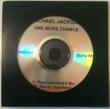 "MICHAEL JACKSON ""One More Chance"" Very Rare 2003 2Track Promo CD *Sony:SAMP2606"