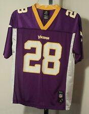 Minnesota Vikings #28 Adrian Peterson Reebok NFL Jersey Size Youth/Boys Large