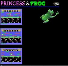 TI-99/4A A 5.25 DISK OF EXTREMELY RARE R5 PRINCESS and FROG BY ROMOX -(SPEECH)