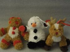 Set of 3 Plush Soft Spot Ornaments By Ganz4-4.5 in long