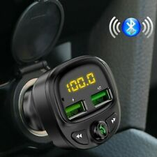 12/24V Bluetooth Car Charger Adapter Cigarette Lighter Socket Dual USB TF/U Disk