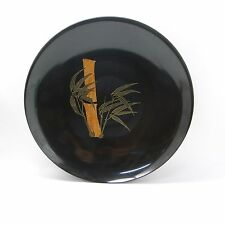 Couric of Monterey large dish inlaid with bamboo with original label 34cm d 13in