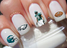 Philadelphia Eagles Nail Art Stickers Transfers Decals Set of 42