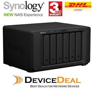 Synology DiskStation DS1618+ 6 Bay Diskless NAS Quad Core CPU 4GB RAM