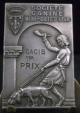 Médaille plaque Chasse à courre Vènerie Chien Société canine Medal 铜牌