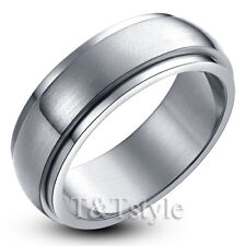 "UNIQUE T&T Stainless Steel ""SPIN"" RING Size 11 R10S"