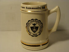 JAMESTOWN COMMUNITY COLLEGE - 1950 - VINTAGE  LOGO - LARGE COLLECTOR BEER  STEIN
