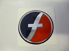 Fleetwood 60mm red silver and blue wheel centre cap caravan badge FLB4
