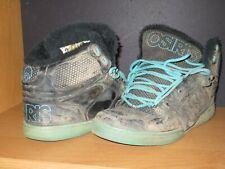 Osiris Mens 12 SHEARLING RARE Skate Shoes NYC 83 Trashed Thrashed Dirty Fuzzy