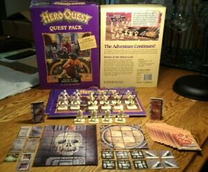 HeroQuest Board Game Return of the Witch Lord Expansion Quest Pack Complete