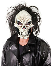 MENS SCARY ZOMBIE SKULL MASK DELUXE LATEX FANCY DRESS HALLOWEEN DEVIL NEW