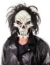 hommes effrayant zombie masque tête de mort de Luxe déguisement latex