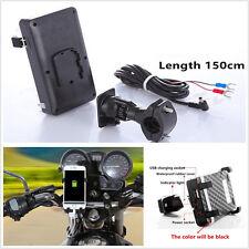 360° Adjustable Motorcycles Handlebar Mount Cellphone Cradle Holder USB Charger