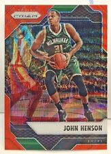 John Henson 2016-17 Panini PRIZM Base #18 ORANGE WAVE Refractor #'d 6/25 - BUCKS