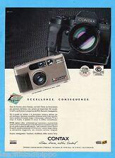 QUATTROR991-PUBBLICITA'/ADVERTISING-1991- CONTAX FOTOCAMERE - T2 e RTS III