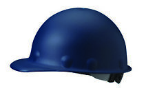 Fibre-Metal Roughneck Cap Style Hard Hat with 8 Point Ratchet Suspension, Blue