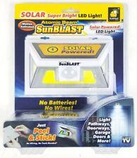 Solar SunBlast Powered Light Beam Motion Sensor Atomic LED Ex Bright NEW/SEALED