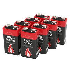 8 ANSMANN Alkaline longlife Rauchmelder 9V Block Batterien - Premium Qualität