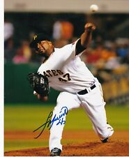 FRANCISCO LIRIANO   PITTSBURGH PIRATES   ACTION SIGNED 8x10