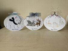 Handmade Christmas Bauble Shaped Cards