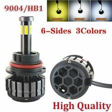 2Pcs 9004 HB1 COB Chip 6Sides 3000K 6000K 8000K Led Headlight Kit Light 32000LM