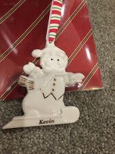 Lenox Merrily Yours Personalized Ornament Snowman Kevin