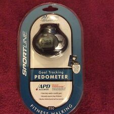 Pedometer Sport Line Goal Tracking (Black) Apd New Sealed In Package
