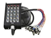 20-Channel Snake & 16 XLR x 4 TRS Stage Box - 100 feet