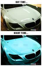 Glow in the dark blue green car wrap vinyl 100ft x 5ft VViViD XPO air free decal