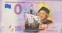 BILLET 0  EURO CRISTOFORO COLOMBO   COULEUR  ITALIE 2019  NUMERO DIVERS
