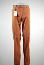 Pantalone classico uomo drop sei Mr.Ramos color tegola cotone leggero taglia 58